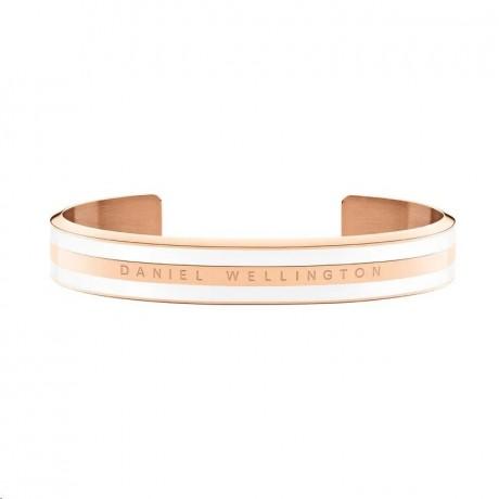 DANIEL WELLINGTON Bracelet Classic Acier Satin blanc Doré rose DW00400007