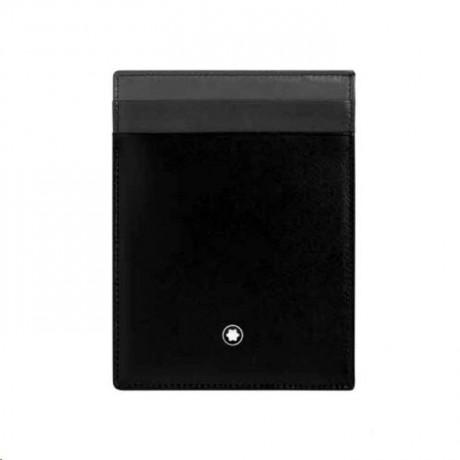 MONT BLANC Portes-cartes Meisterstück 4cc Cuir Noir 126214