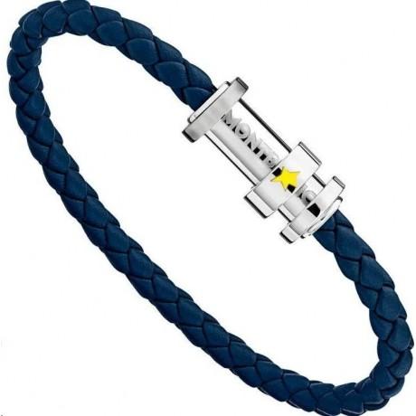 MONT BLANC Bracelet Le Petit Prince Cuir Bleu 11902268