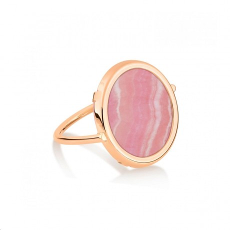 GINETTE NY Bague Franch Kiss Or rose 18 carats RFRKRC
