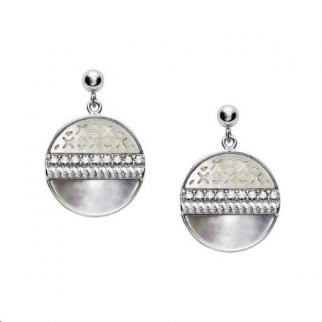 FOSSIL Boucles d'oreilles Argent Nacre JFS00515040