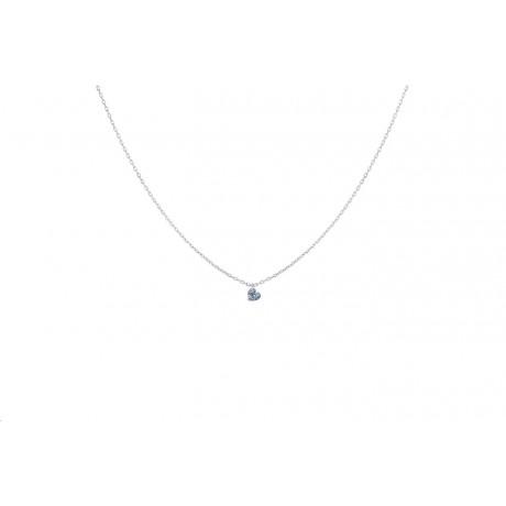 LA BRUNE & LA BLONDE Collier 360° Diamant Coeur Or blanc PE0009WGDI