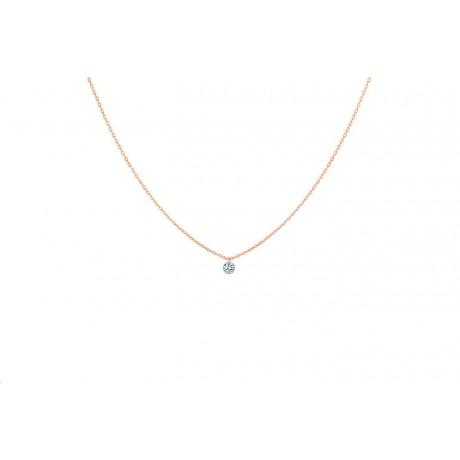 LA BRUNE & LA BLONDE Collier 360° Or rose Diamant 0,10 ct PE0001PGDI