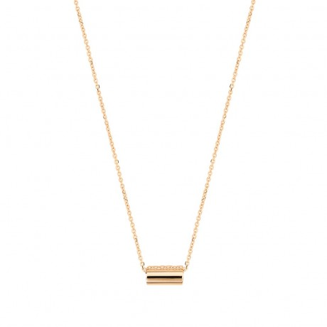 GINETTE NY Collier Mini Straw Or rose ST02