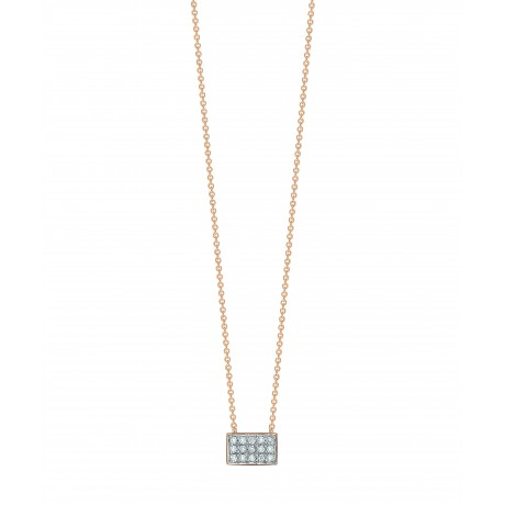 GINETTE NY Collier Tiny Or rose Diamant TDRD