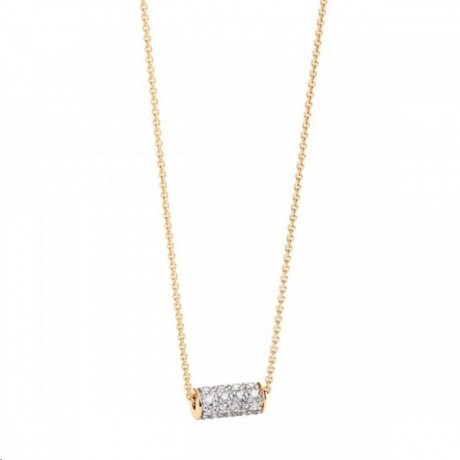 GINETTE NY Collier Mini Straw Or rose Diamant STD