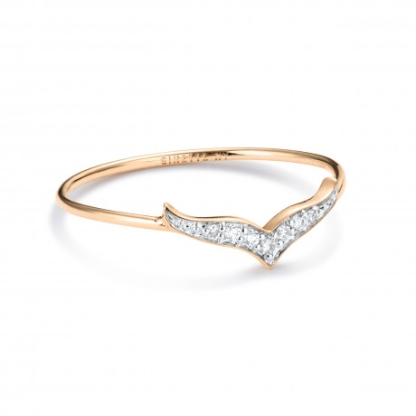 GINETTE NY Bague Wise Or rose Diamants RWSED