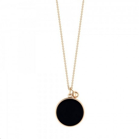GINETTE NY Collier Ever Disc Or rose Onyx EVO
