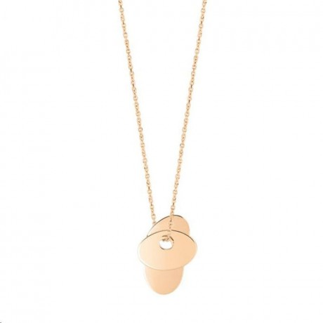 GINETTE NY Collier 3 Sequins Or rose SQ04