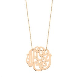 Collier Baby Lace Monogram Or rose