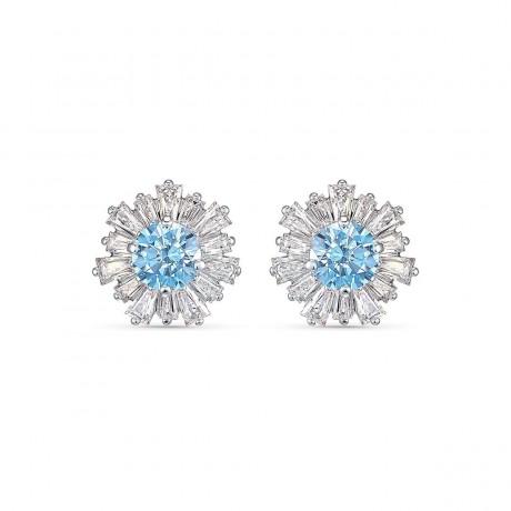 SWAROVSKI Boucles d'oreilles Sunshine Métal argenté Cristaux bleus et blancs 5536741