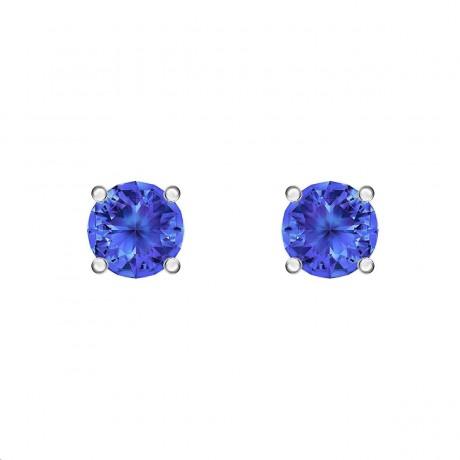 SWAROVSKI Boucles d'oreilles Attract Métal argenté Cristaux bleus 5512385