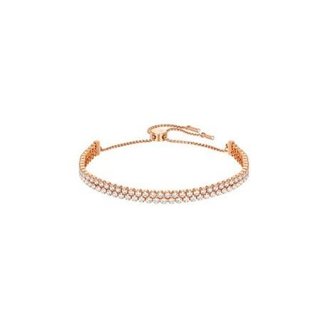 SWAROVSKI Bracelet Subtle Doré Rose Cristaux Blancs 5224182