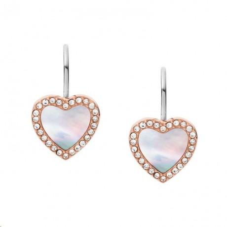 FOSSIL Boucles d'oreilles Hearts To You Acier doré rose JF03456791