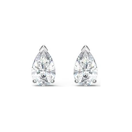 SWAROVSKI Boucles d'oreilles Attract Pear Métal argenté Cristaux blancs 5563121