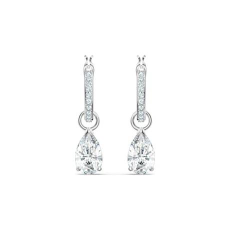 SWAROVSKI Boucles d'oreilles Attract mini Métal argenté Cristaux blancs 5563119