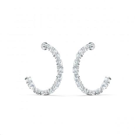 SWAROVSKI Boucles d'oreilles Tennis Deluxe Métal argenté Cristaux blancs 5562128