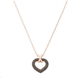Collier Pesavento Coeur Doré Rose Polvere Bronze